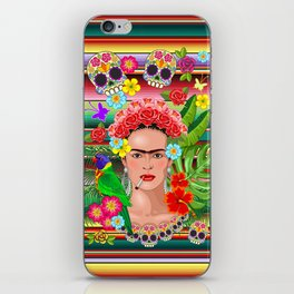 Frida Kahlo Floral Exotic Portrait iPhone Skin