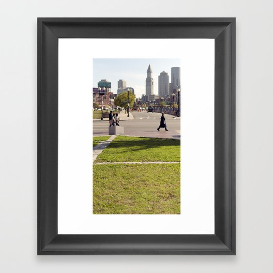 it's not paranoia if you are actually being followed... Framed Art Print