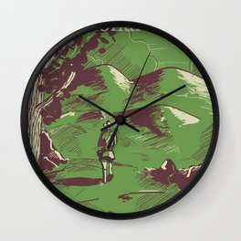 New Forest, Hampshire, England national park vintage poster Wall Clock