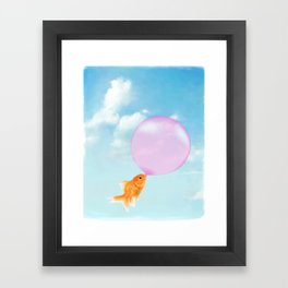 Goldfish Vacation Framed Art Print