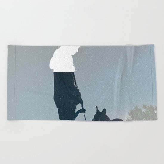 FRIENDSHIP in the space Beach Towel