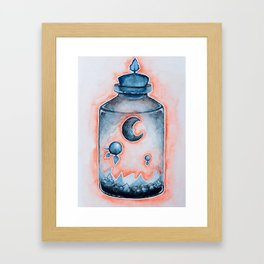 Sunset Moon Terrarium  Framed Art Print
