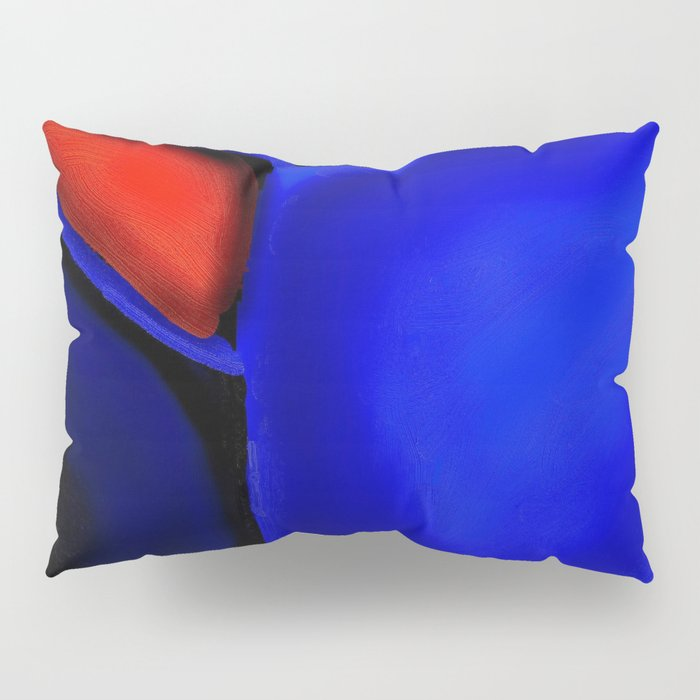 Abstraction in Lapis and Red Pillow Sham