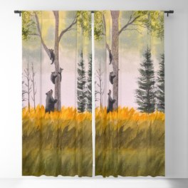 Bears In The Blue Ridge Mountains Blackout Curtain