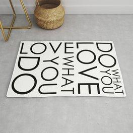 Do What You Love Print, Wall Art Print, Home Decor, Motivational Print, Gift Print, Quote Art Prints, Inspirational Poster Rug