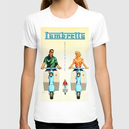 Vintage Lambretta Motor Scooter 'Security' Advertisement Poster T-shirt