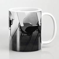 school Mugs featuring School by dtancler