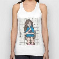 bathroom Tank Tops featuring Nicki's bathroom experience V2 by plmahl
