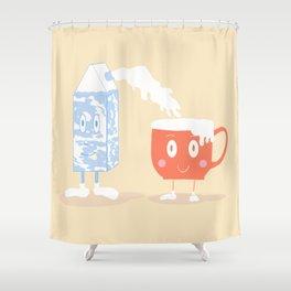 Milky Couple Shower Curtain