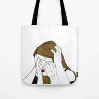 introvert Tote Bags featuring Introvert 7 by Heidi Banford