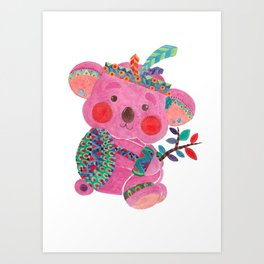 The Pink Koala Art Print