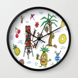 Cocktail Cannibalism Wall Clock