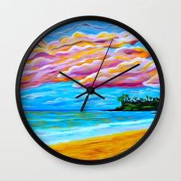 Pāʻia Bay Sunrise Wall Clock