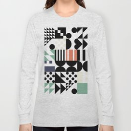 RAND PATTERNS #123: Procedural Art Long Sleeve T-shirt