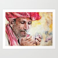 ' Mr Smoker ' Art Print