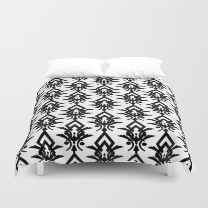 Black And White Victorian Pattern Duvet Cover
