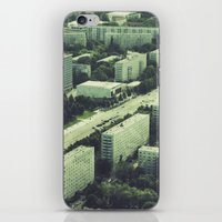 marx iPhone & iPod Skins featuring Karl-Marx-Allee in Berlin by Martin Llado