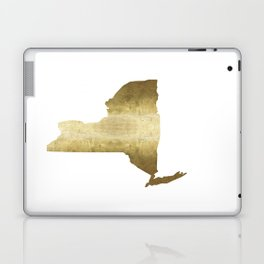 new york gold foil state map print niece ny state Laptop & iPad Skin