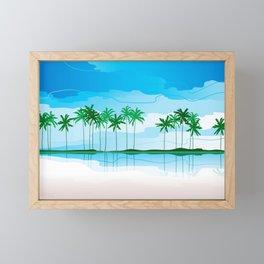 Tropical Coast Framed Mini Art Print