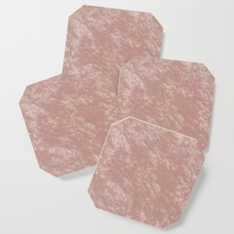 Soft rose gold velvet Coaster