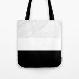 Marble Black White Tote Bag