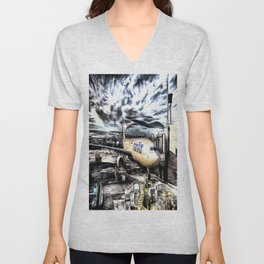 Iran Air Airbus A330 Art Unisex V-Neck