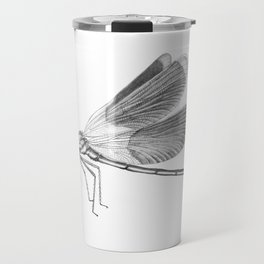 Dragonfly Illustration Travel Mug