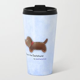 Oscar the Dachshund by leatherprince Travel Mug