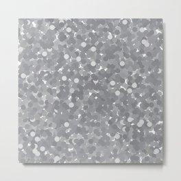 Sharkskin Polka Dot Bubbles Metal Print