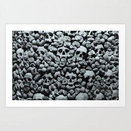 Wall of Remains B'n'W Art Print