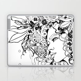 With Flowers in Her Hair No. 5 Laptop & iPad Skin