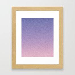 Deep Blue Pink Static Ombre Framed Art Print