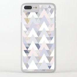 Pastel Graphic Winter Peaks on Geometry #abstractart Clear iPhone Case