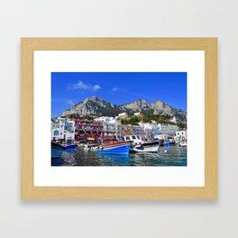 The Beach in Capri, Italy Framed Art Print