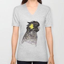 Yellow Tailed Black Cockatoo Unisex V-Neck
