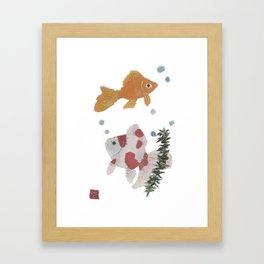 GOLDFISH, Whimsical, Zen Framed Art Print