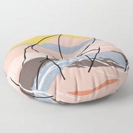 The Waves Of Sex, Erotic Lovers Art, Minimalist Sex Illustration, Modern Sex Pose Line Drawing Floor Pillow