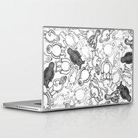 sticker Laptop & iPad Skins featuring Goon Sticker Slap by Jon Hoeveler