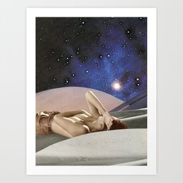 Saturn Rising Art Print