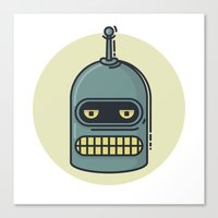 bender Canvas Prints featuring Bender by Thiago Grossmann