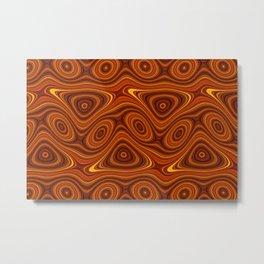 Amber Lava 7 Hi Res Metal Print