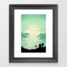 Sunrise of love Framed Art Print