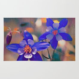 Colorado Columbine Flower Rug