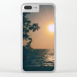 It Was A Hot Summer Night Clear iPhone Case