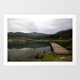 Nice spot for fishing Art Print