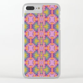 Purple scarab Clear iPhone Case