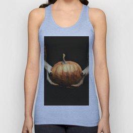 Girl Holding A Pumpkin 1 Unisex Tank Top