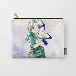 Young Link and Pichu Super Smash Bros Cute Kawaii Anime Fan Art Carry-All Pouch