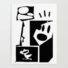 Untitled Black & White Piece Poster