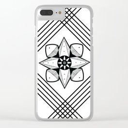 Spaced Out Mandala Clear iPhone Case